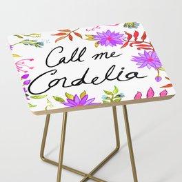 Call Me Cordelia - Purple Flowers Side Table