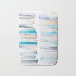 18  | 181101 Watercolour Palette Abstract Art | Lines | Stripes | Bath Mat