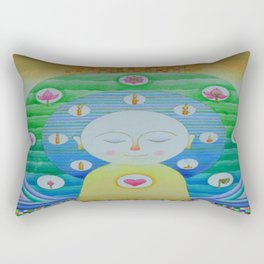 Intellectual peace Rectangular Pillow