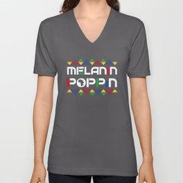 Melanin Poppin Black  History Month African Pride Unisex V-Neck