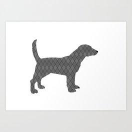 Black beagle Art Print