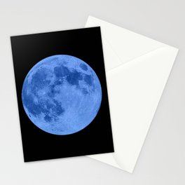 MOON GLOW BLUE Stationery Cards