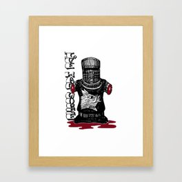 The Black Knight - Monty Python Framed Art Print