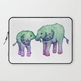 Baby Elephant Love - ombre mint & purple Laptop Sleeve