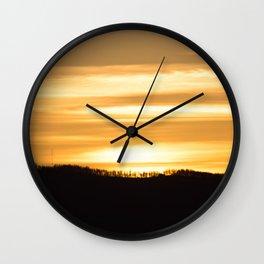 Mountain Sunset Wall Clock