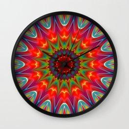 Colors kaleidoscope pattern Wall Clock