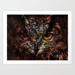 Big Owl Art Print
