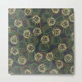 Rose Camo WOODLAND Metal Print