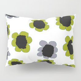 Daisies - Avocado and Slate Pillow Sham