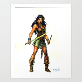 The Darkslayer - Jarla the Brigand Queen Art Print