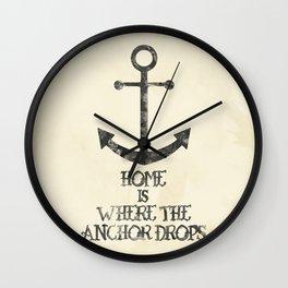 Where The Anchor Drops Wall Clock