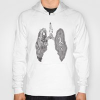 lungs Hoodies featuring Lungs by Alexander.Leake