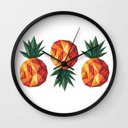 Edgy Pineapple Wall Clock