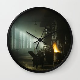 Vintage Railroad Roundhouse - Chicago 1942 Wall Clock
