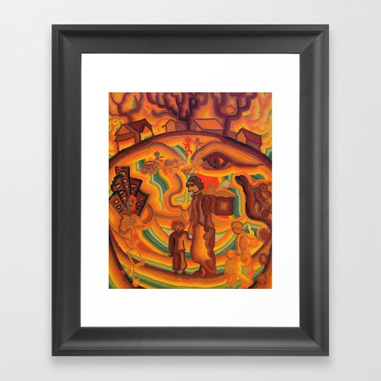 Face of War Framed Art Print