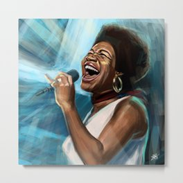 Aretha Franklin Still Sings Metal Print