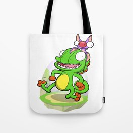 Lizard and Bat! Tote Bag