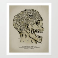 Zombie Phrenology Art Print