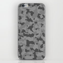 Camouflage Gray iPhone Skin