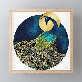 Golden Peacock Framed Mini Art Print