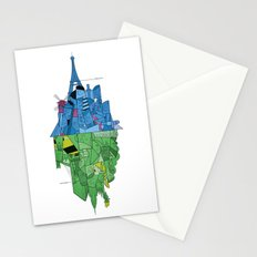 From Paris to New York and back Stationery Cards