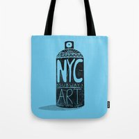 nyc Tote Bags featuring NYC 1972 by Farnell