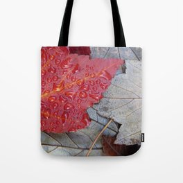 Red Sunset Maple Leaves Tote Bag