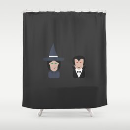 halloween trick or treat by jtorcida Shower Curtain