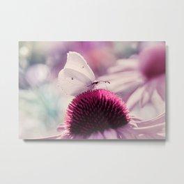 Beautiful white butterfly 68 Metal Print