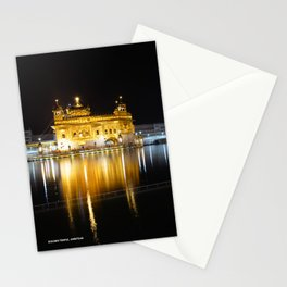 Night View of Golden Temple, Amritsar Stationery Cards