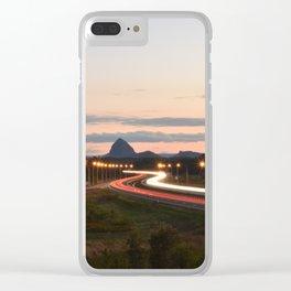 Car Trails Clear iPhone Case