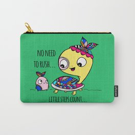 """""""Little Steps Count"""" / Turtle and His Friend Carry-All Pouch"""