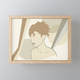 Abstract female body Framed Mini Art Print