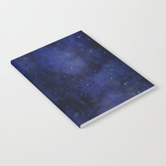 Galaxy Watercolor Texture Night Sky Stars Notebook