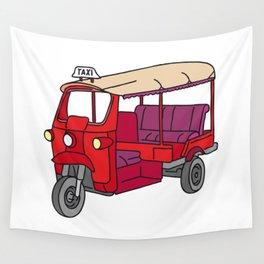 Red tuktuk / autorickshaw Wall Tapestry