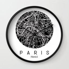 Paris Round Black Wall Clock