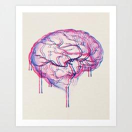 3D Brain Art Print