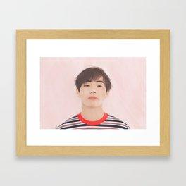Taehyung Daily Framed Art Print