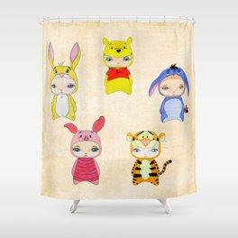 A Boy - Winnie and friends Shower Curtain