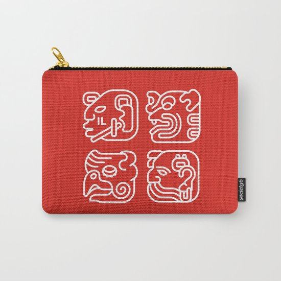 Mayan Glyphs ~ Heads Carry-All Pouch