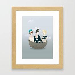 Over the ladies' nest  Framed Art Print