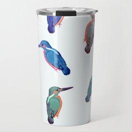 Colored kingfishers Travel Mug
