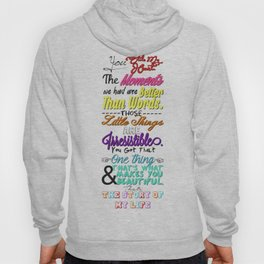 One Direction Songs Hoody