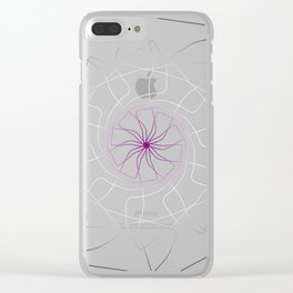 Asexual Pride Spirograph Clear iPhone Case