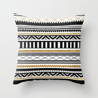 aztec Throw Pillows featuring Aztec by Kakel