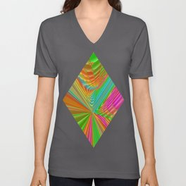 Abstract 359 a dynamic fractal Unisex V-Neck