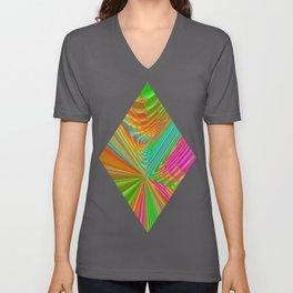 Abstract 359 a dynamic fractal Unisex V-Neck