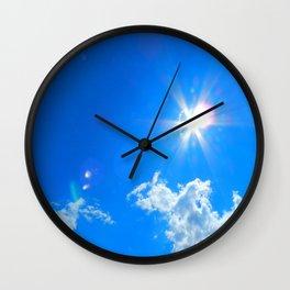 Sun, clouds Wall Clock