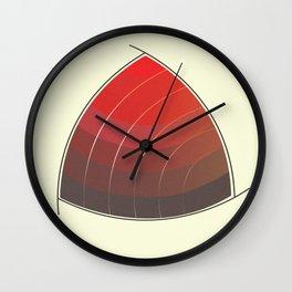 Le Rouge-Orangé (ses diverses nuances combinées avec le noir) Vintage Remake, no text Wall Clock