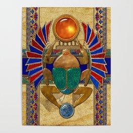 Sarcophagus 3d Egyptian Folk Art Poster